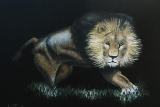 Un Roi la Nuit  #76   Acrylique 12 x 16 (final)