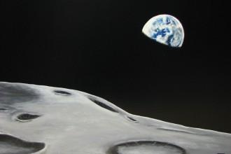 Le Lever de Terre   Acrylique  24 x 36