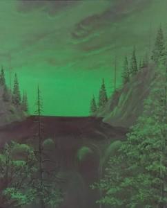 Vert la Nature   Acrylique 20 x 24